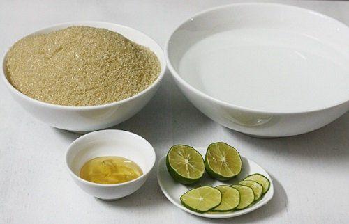 Nguyên liệu cần có cho phần nước đường làm bánh