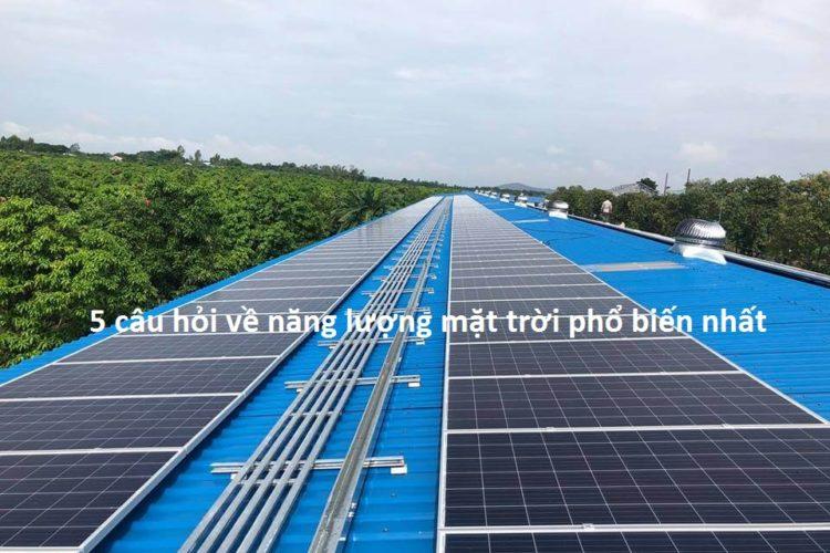câu hỏi về năng lượng mặt trời