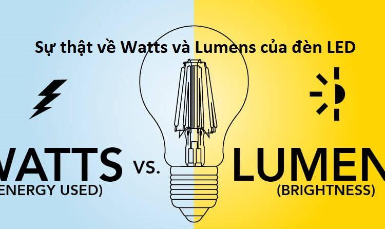 Sự thật về Watts và Lumens của đèn LED